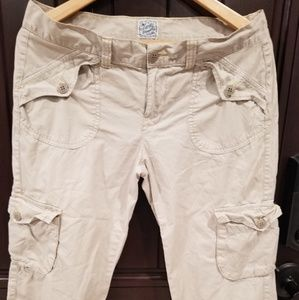Lucky Brand Lucky you Khaki Beige Capri Pants 8/29